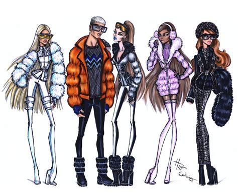 fashion illustration winter wear hayden williams fashion illustrations winter vibes by