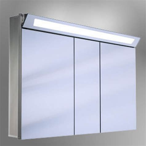 bathroom illuminated mirror cabinet schneider capeline triple door illuminated mirror cabinet