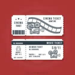 entradas de cine serie vintage descargar vectores gratis