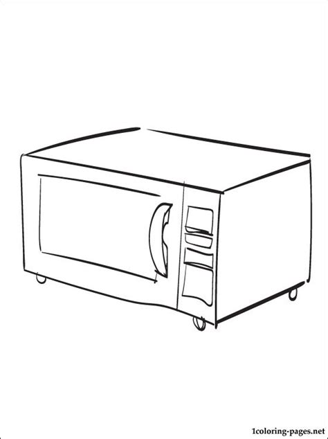 Microwave oven coloring page   Coloring pages