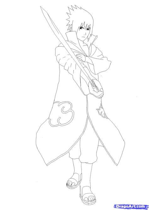topa cara menggambar sasuke akatsuki langkah