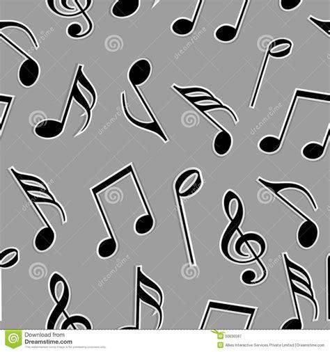 imagenes en blanco y negro de notas musicales notas musicales en color blanco y negro imagen de archivo