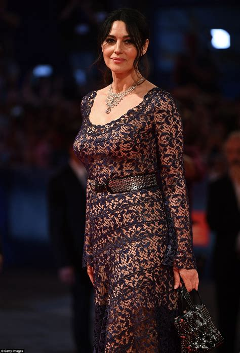 Floor Design Online by Monica Bellucci Amps Up The Appeal In Semi Sheer Lace