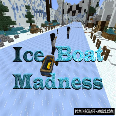 minecraft boat road ice boat madness map for minecraft 1 13 1 1 12 2 pc