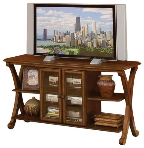 Entertainment Table by Standard Furniture Barcelona Console Tv Table Cherry