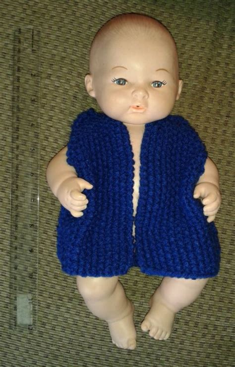 free knitting patterns for 12 inch dolls clothes knit doll vest free pattern 12 inch doll clothes