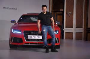 Salman Khan Rolls Royce Salman Khan Posing With The Audi Rs 7 Sportback Luxury Car