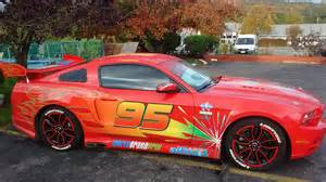 Lightning Mcqueen Car Hire Mustang Pimped Out To Look Like Lightning Mcqueen From