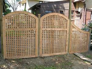 trellis privacy fence ideas lattice privacy fence ideas