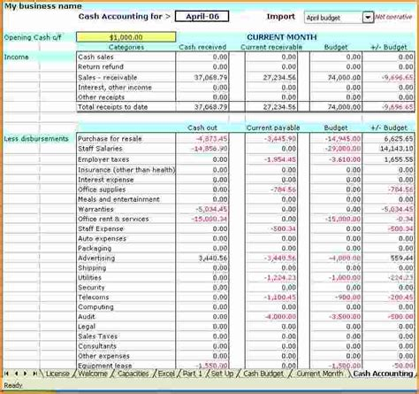 bookkeeping excel templates 10 excel accounting templates invoice template