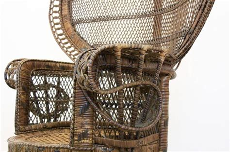 Rattan Peacock Chair by Iconic Rattan Peacock Chair 1970s At 1stdibs