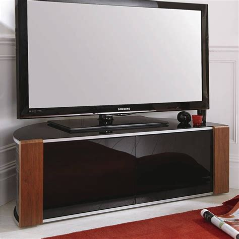 Tv Cabinets With Glass Doors Best 15 Of Black Corner Tv Cabinets With Glass Doors
