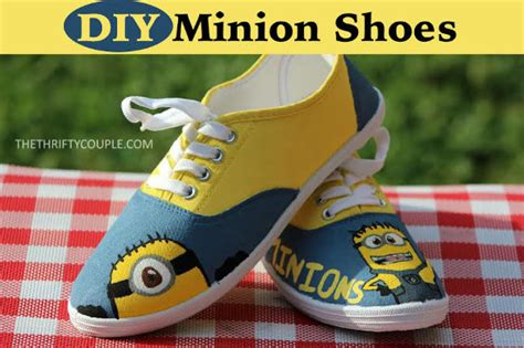 diy minion shoes how to make and frugal diy minion shoes from white
