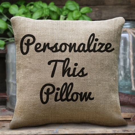 Pillow Custom by Personalized Pillows Custom Burlap Cotton Linen Pillows