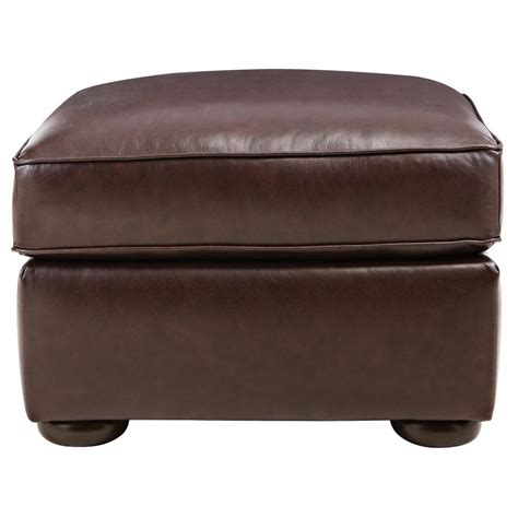 Home Decorators Ottoman Home Decorators Collection Alwin Chocolate Italian Leather Ottoman 9948400120 The Home Depot