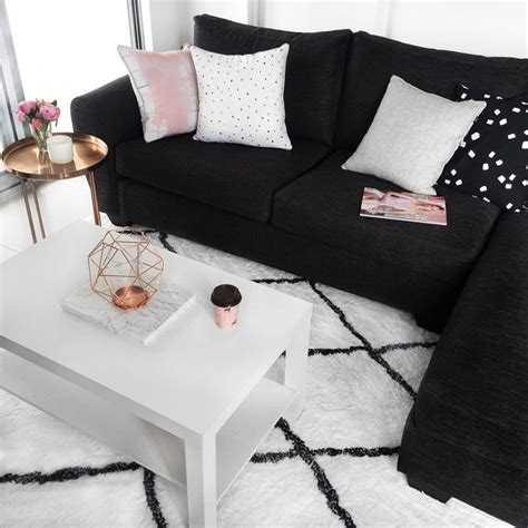 black and white room best 25 black decor ideas on black sofa