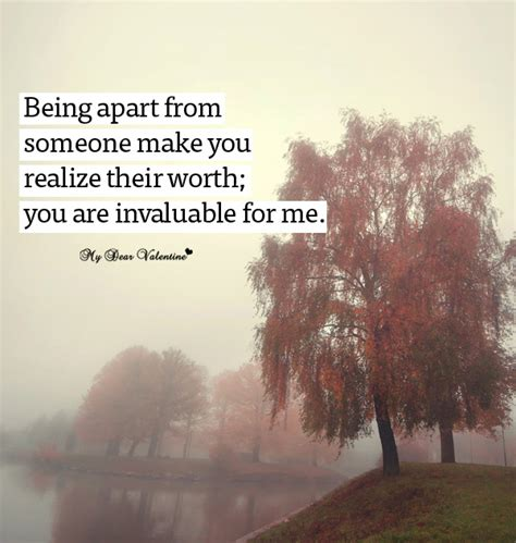 appart from being apart from someone missing you picture quotes