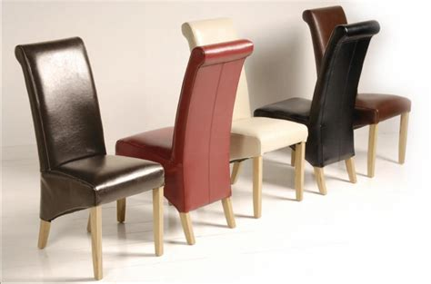 leather dining chairs preloved details about harold solid oak modern furniture