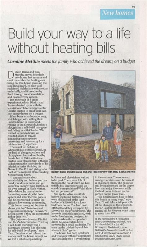 Saturday Telegraph Property Section by The Daily Telegraph Luxton Design
