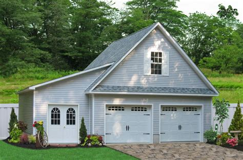how to build a 2 car garage 24x24 two car garage with lean to in millersville md
