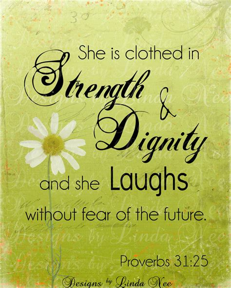 proverbs 31 25 woman printable typography by designsbylindanee