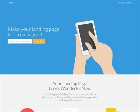 Flatty Bootstrap App Landing Page Template Bootstrap App Landing Page Template