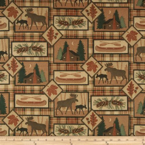 Moose Upholstery Fabric by Big Country Flannel Moose Discount Designer Fabric