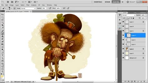 adobe photoshop painting tutorial leprechaun character digital painting process