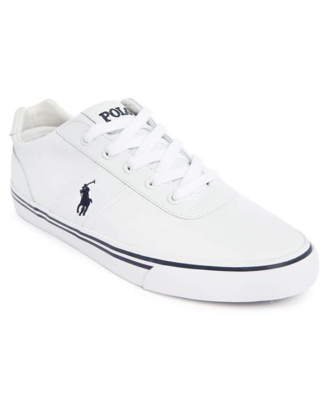 polo white sneakers polo ralph hanford mono white leather sneakers in