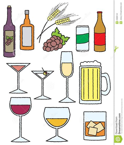 alcohol vector cartoon alcoholic drinks www pixshark com images