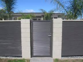 corrigated fence fence gate