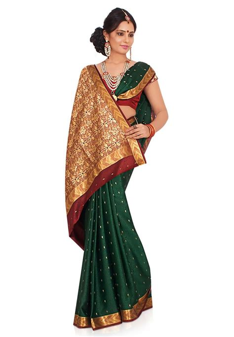 silk saree draping styles bottle green pure mysore silk saree with blouse online