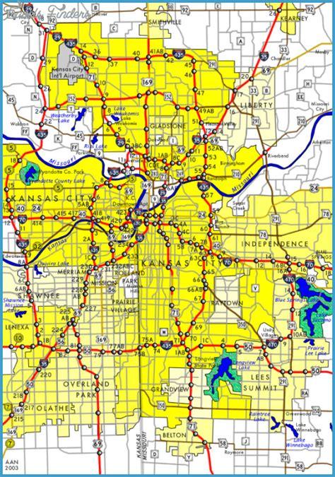 map of kansas city map of kansas city travelsfinders