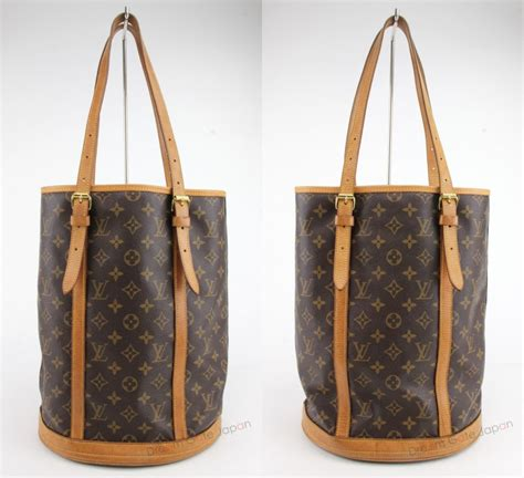 authentic louis vuitton monogram bucket gm shoulder bag