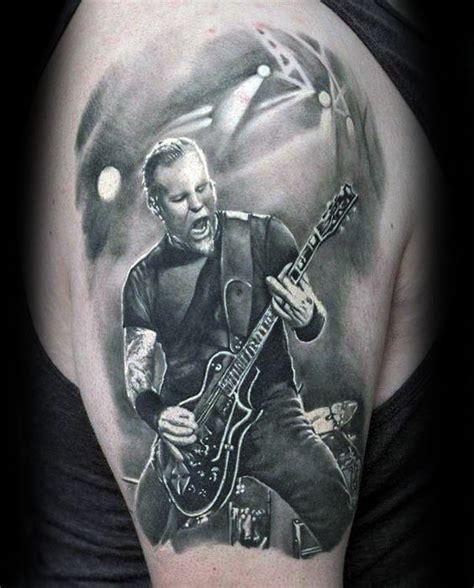 tattooed heart guitar cover 60 metallica tattoos designs for men heavy metal ink ideas