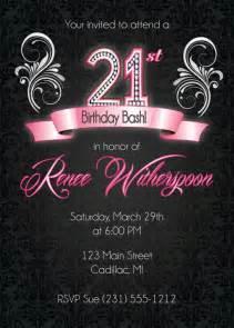 21st Birthday Invitation, 21st Birthday Party Invitation