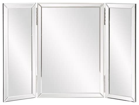 tri fold bathroom vanity mirrors tripoli trifold vanity mirror contemporary makeup