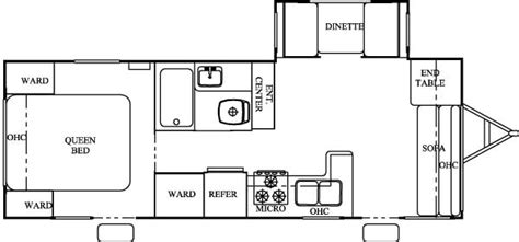 sierra rv floor plans 2004 forest river sierra west coast travel trailer