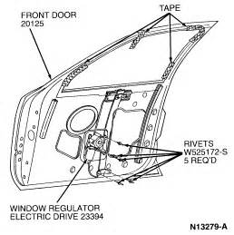 Electric Car Window Parts Replace Power Window Retactors Drivers Side 1997 Lincoln
