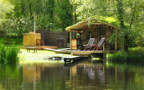 Fishing Log Cabins With Tubs by Gling Cabin On The Lake Mid Wales