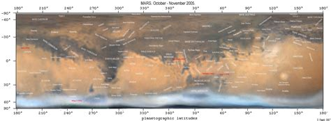mars map annotated mars map 2005 by d