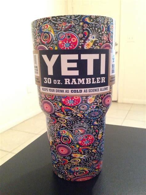 pattern yeti tumbler yeti rambler dipped in trippy paisley shipped love love