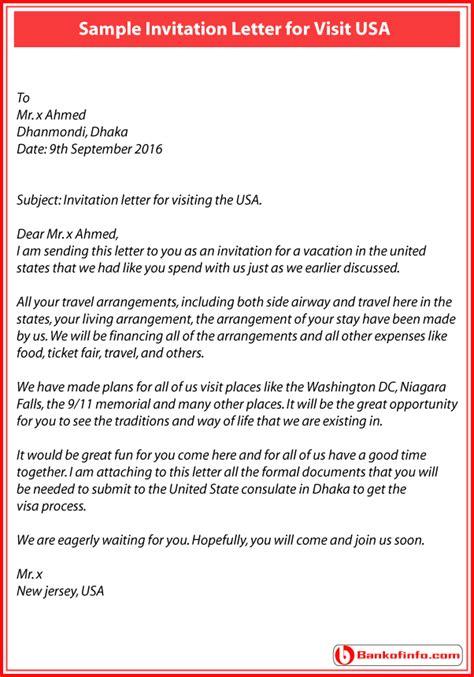 Invitation Letter For Visa Mexico invitation letter to visit usa fishingstudio