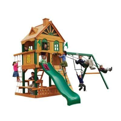 wooden swing set kits home depot 17 best images about playset ideas on pinterest green