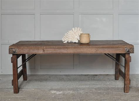 Rustic Coffee Tables Uk Rustic Vintage Coffee Table With Metal Tin Patchwork