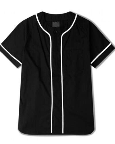Jersey Baseball Baju Baseball Baju Hiphop Sox Hitam fashion striped baseball jersey shirt for hip hop t