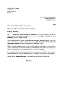 Lettre De Preavis Location Meublee modele lettre preavis depart location meublee document