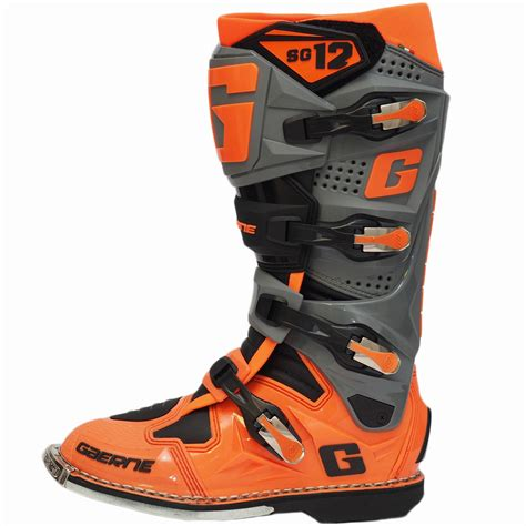 orange motocross boots new gaerne 2017 mx sg 12 limited edition dirt bike fluro