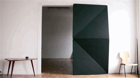Origami Door - amazing kinetic doors unfold like origami co design