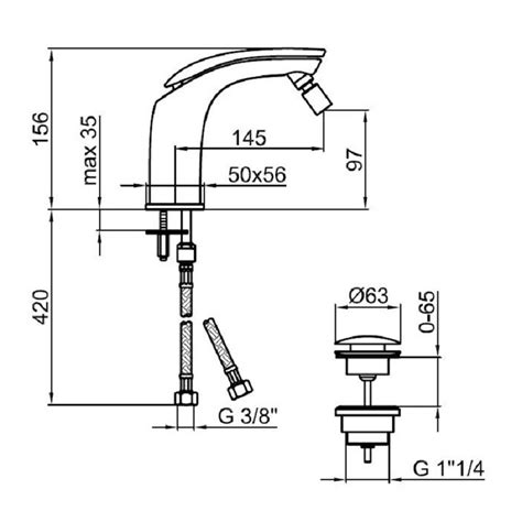 bidet dimensions ai840101 bidet mixer dimensions bacera